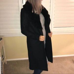 Authentic Michael Kors Black Real Fur Colar Coat